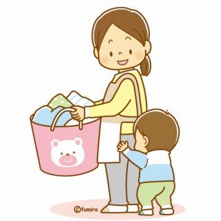 洗濯干し,自営業,家事,保育園